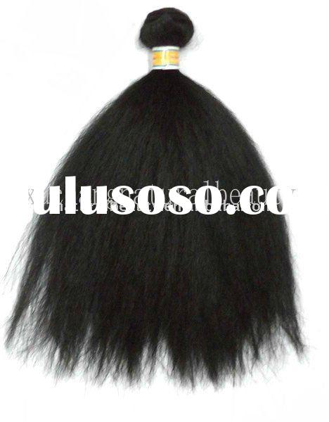 afro kinky curl synthetic hair extension, non-human hair weft