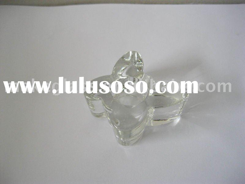 butterfly shaped glass candle holder/xmas gift/glass votive holder/glassware