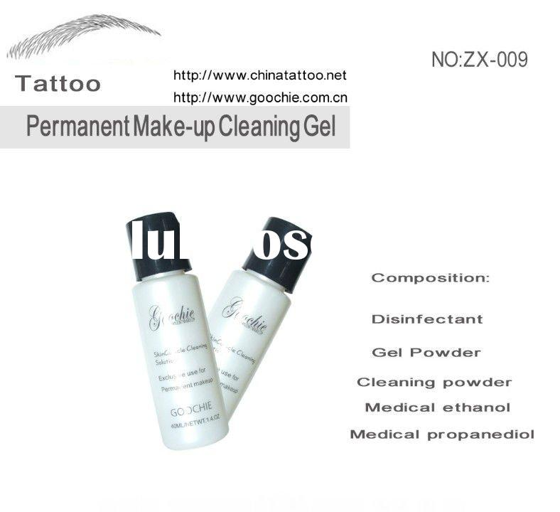 cleaning gel for permanent makeup