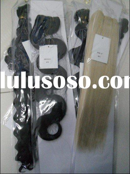 deep wavy human hair weft/human hair weft /weaving weft/hair products