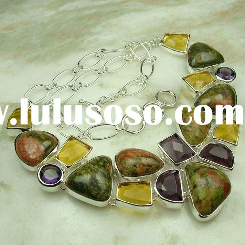 fancy gemstone jewelry unakite brazil silver jewelry wholesale