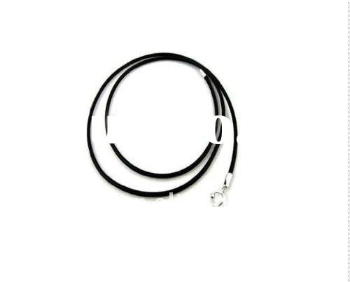 fashion black leather necklace(A400086)