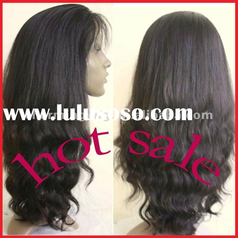 fashion style human hair full lace wigs