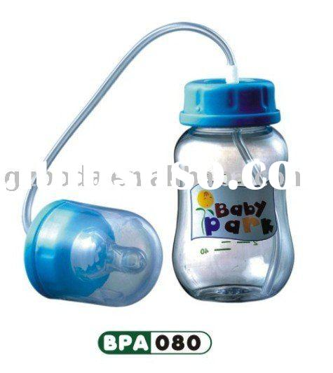 feeding bottle with straw ,125ml milk bottle , baby cup