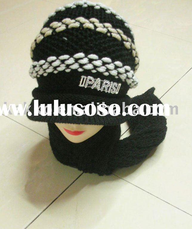 girls knitted set scarf and hat