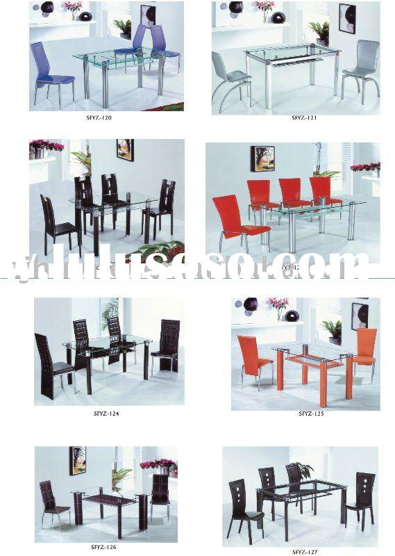 glass dinning table, dining room furniture, indoor furniture