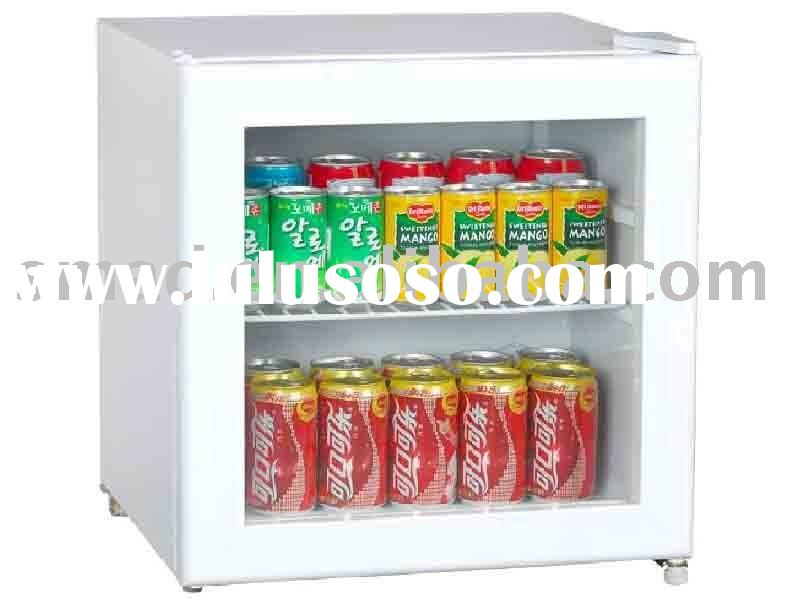 mini bar fridge glass door