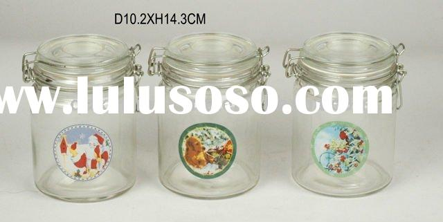 home decoration glass jar with lid