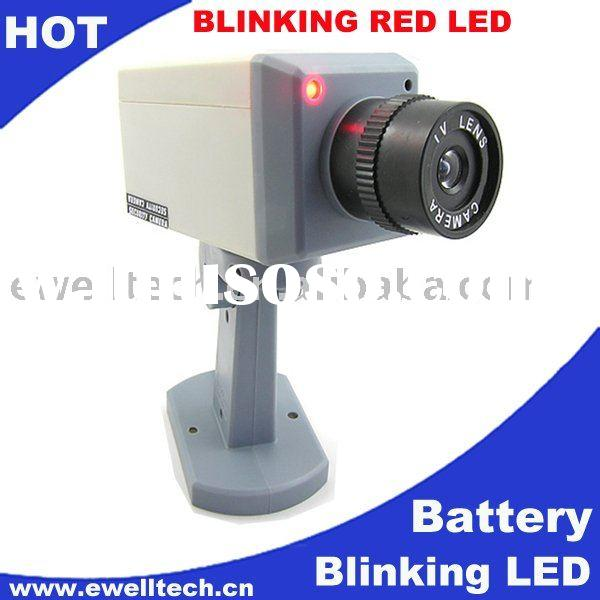 indoor box fake ccd camera with battery and Glittering lights led