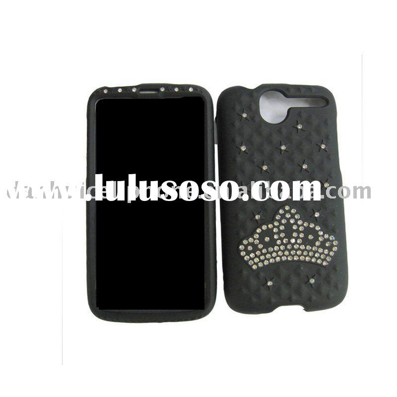 jeweled cell phone cases for HTC desire black