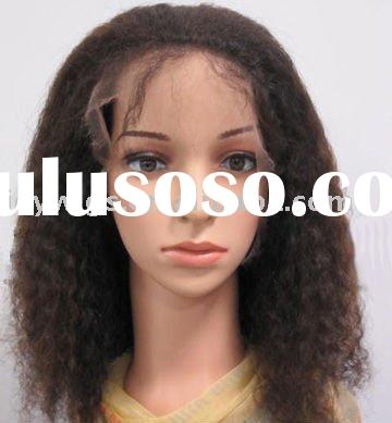 kinky afro curl human hair full lace wigs