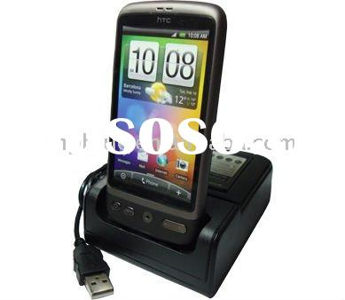 usb cradle dock charger for HTC Desire, Desktop charging cradle with spare battery charger