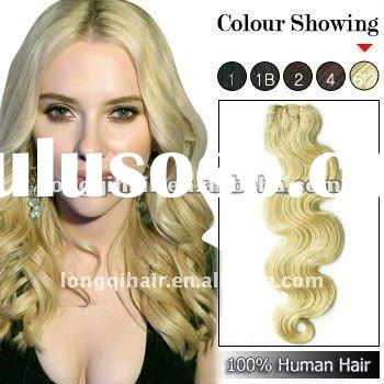 wholesale top quality blonde European body wave remy human hair weaving