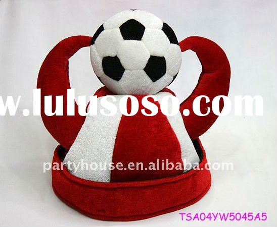 world cup football hat with two horns