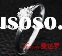 0.18 Carat Diamond 18 K Bridal White Gold Ring
