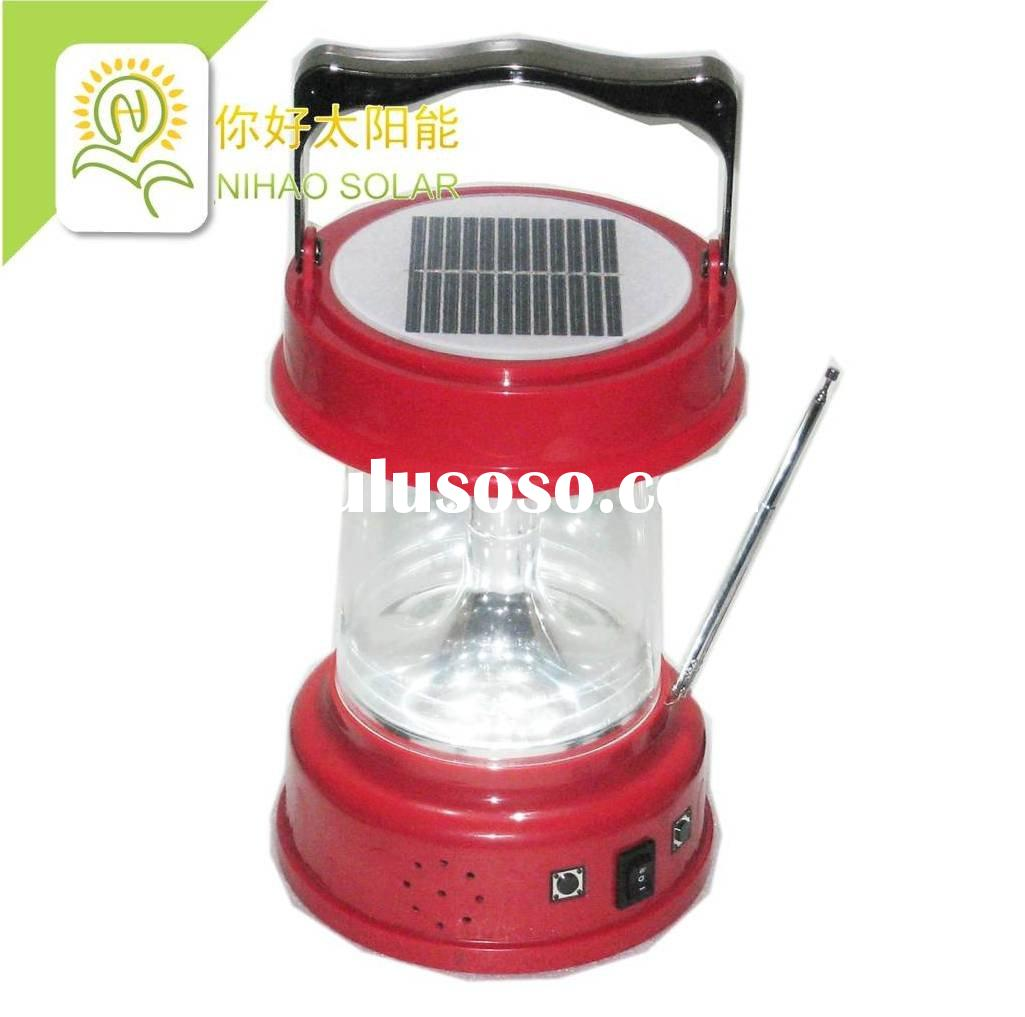 0.5W*4 LED Multi-functional Solar Rechargeable Portable Lamp / Light