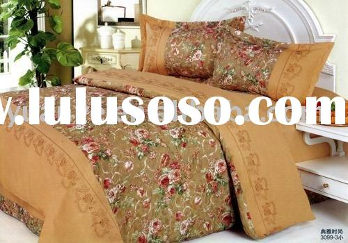 100% Cotton Embroidery Bed Set,,quilt cover,flat sheet