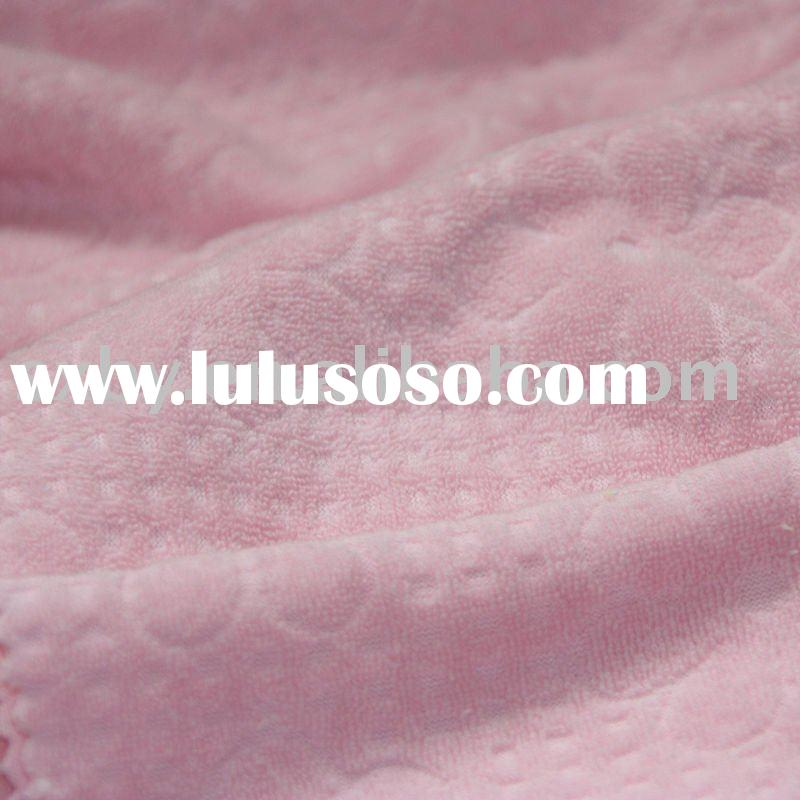 100% Cotton jacquard cloth terry toweling knitted fabric