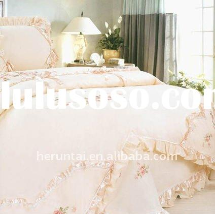 100%cotton embroidery wedding bedding set