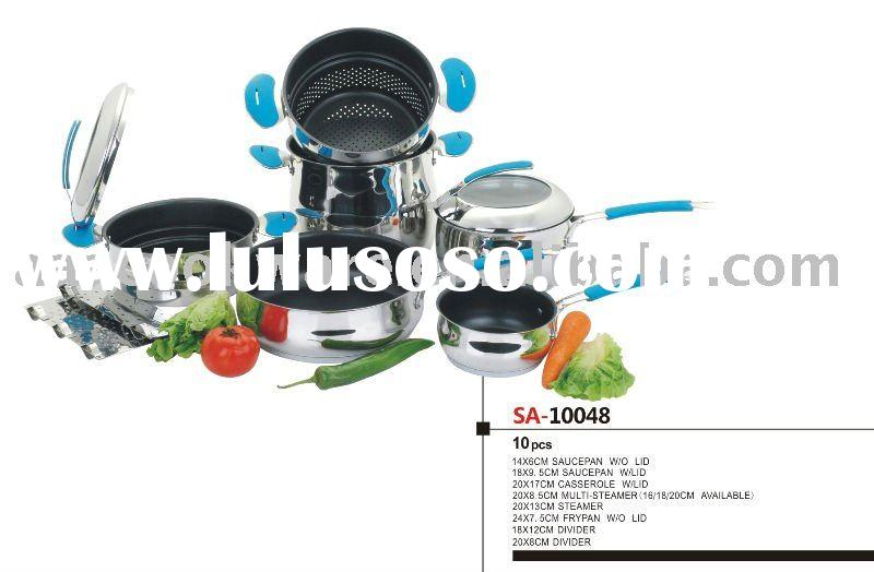 10pcs 18/8 Stainless Steel Cookware/Kitchenware