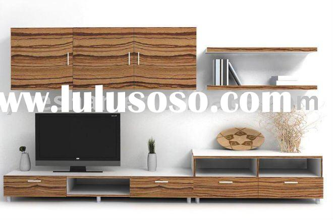 12B08O TV cabinet unit with tree hanging cabinet modern living room
