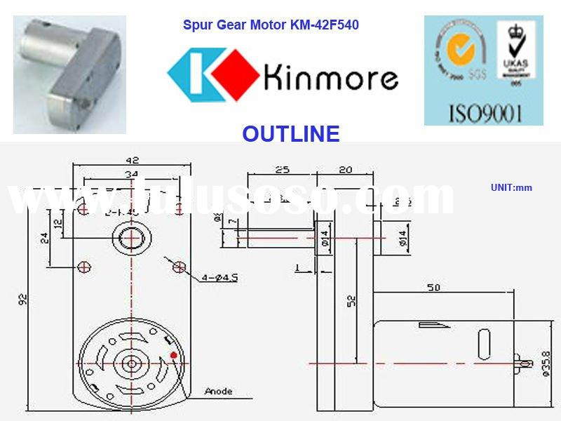 12V DC geared motor,low speed motor,gear reducer motor(KM-42F540)