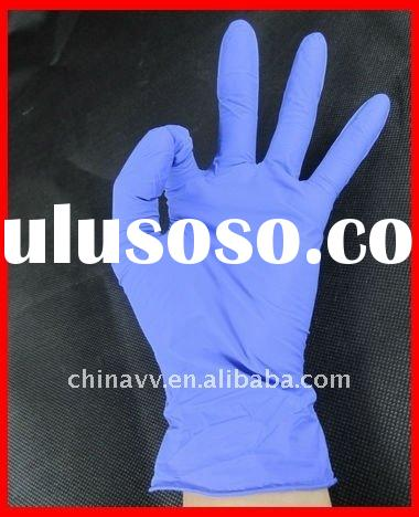 12 inch powdered disposable nitrile gloves