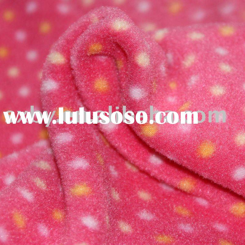 150D96F Printed polar fleece with semi-glossy fabric