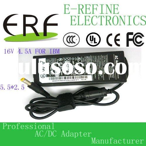 16V 4.5A laptop ac/dc power adapter for IBM