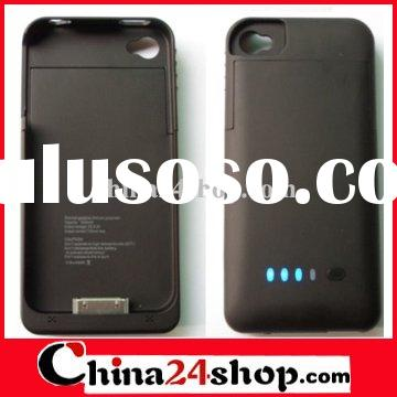 1900mAh Portable Backup External Battery Charger Case For iPhone 4
