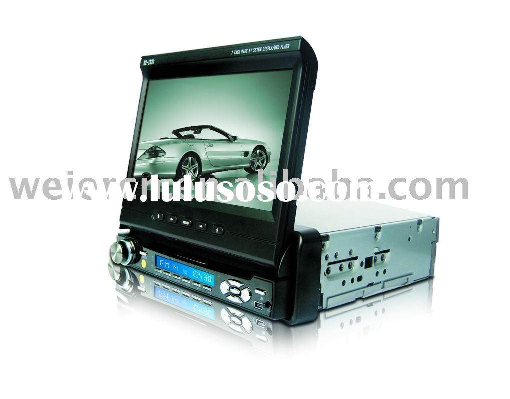 1 DIN car DVD player in dash with touch screen/Bluetooth/GPS/ USB port