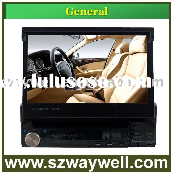 "1 Din 7"" in dash motorized car DVD player with detachable panel RDS ipod GPS bluetooth"
