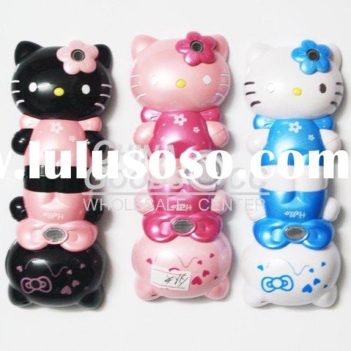 2010 Cartoon mobile phone C168 Hello kitty for children Quad band