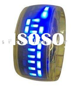 2010 New Fashion Christmas Gift LED Digital ODM bracelet bangle Wrist Jelly Silicone ion Sport watch