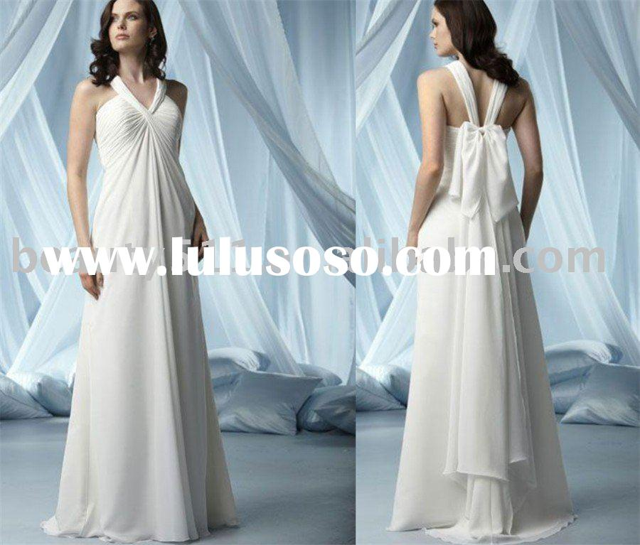 2010 impression bridal big bow decorated evening dresses modest prom dresses and formal dress EUAH03