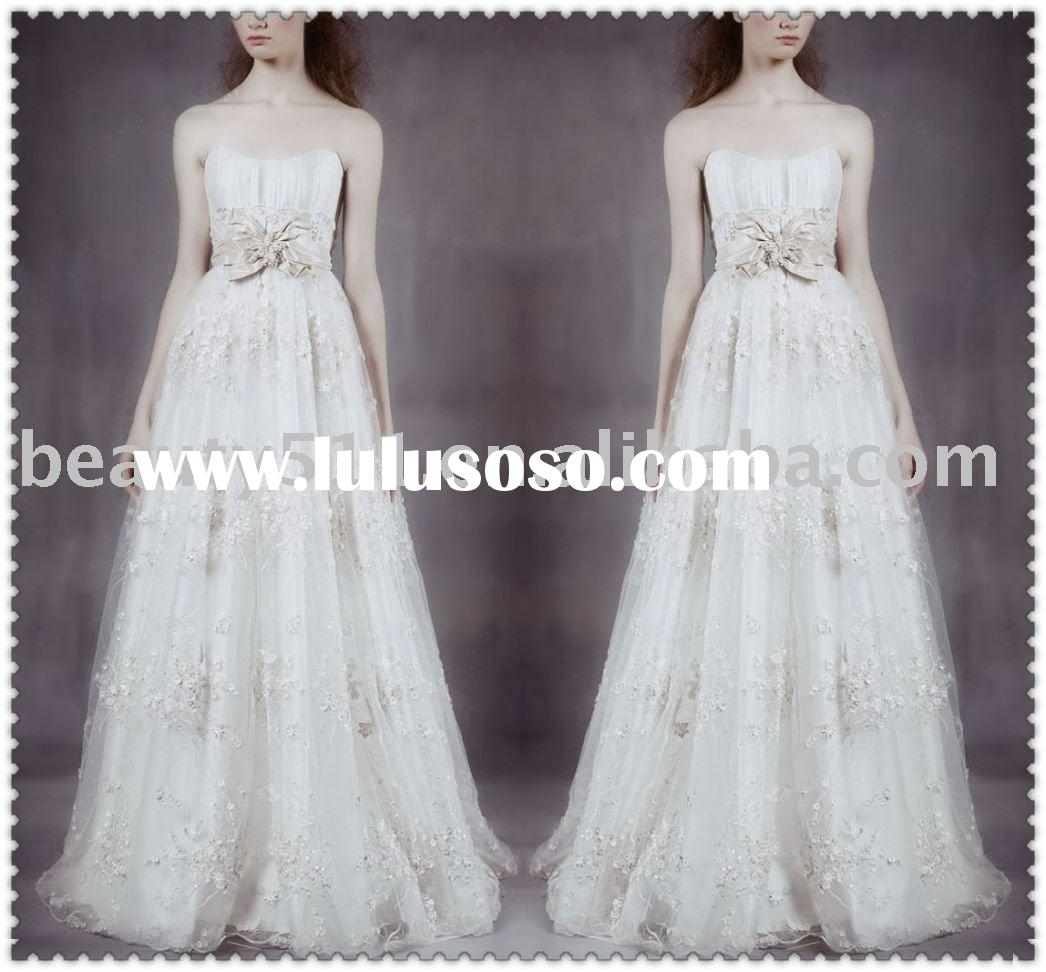 2010 latest-style beautiful embroidered wedding dress,wedding dresses GA-069