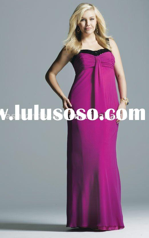 2010 plus size purple chiffon evening dresses,prom dresses,party dresses,bridesmaid dresses,evening