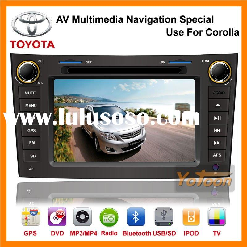 2011Shenzhen New Special 7'' car radio tv dvd with Gps Player for TOYOTA COROLLA