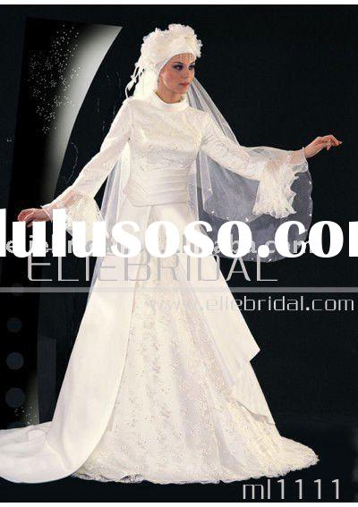 2011 Beautiful New Style ladies muslim wedding dress