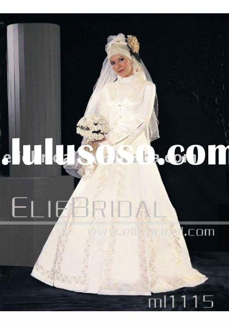 2011 Beautiful New Style wedding dress for muslim