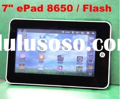 "2011 New 7"" epad VIA8650 Flash Player 10.1 MID Pad Android 2.2 OS Tablet PC(accept paypal)"