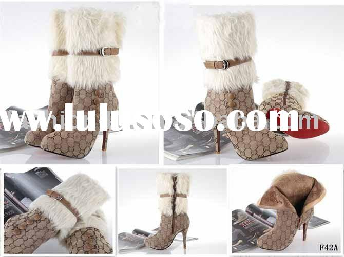 2011 Wholesale Fashion Women High Heels Boots Shoes