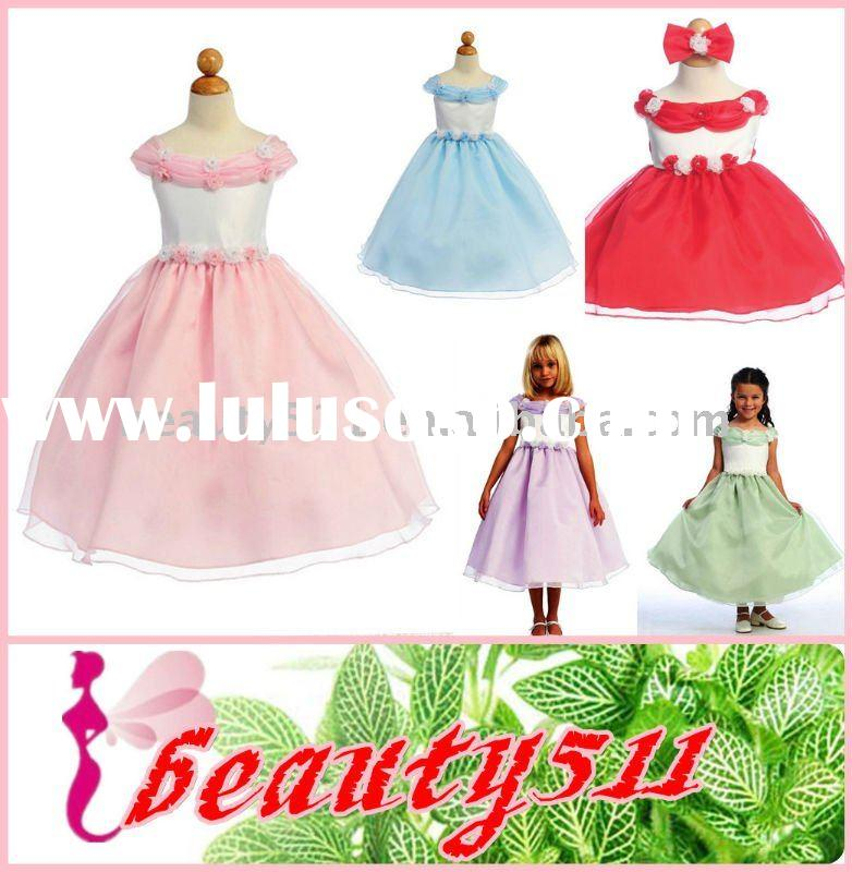 2011 factory sell directly wholesale price princess flower girl dress