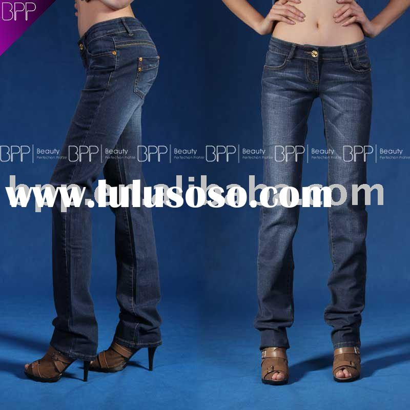 2011 fashion cotton jeans no spandex