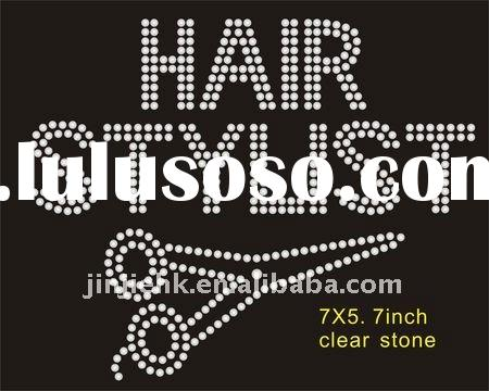 2011 hair stylist rhinestone transfer motif