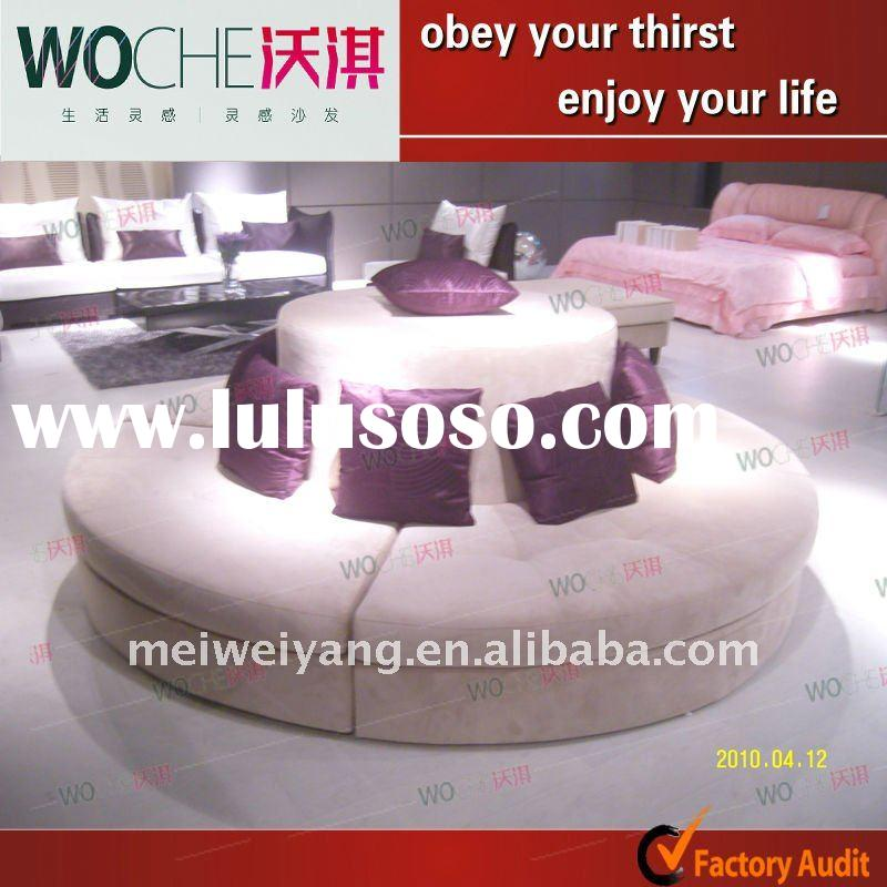 2011 modern top quality hotel lobby sofa furniture(round sofa)