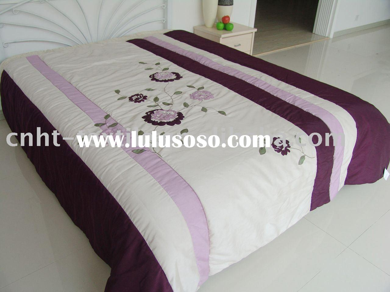 Ribbon embroidery bedspread designs - 2011 New Design Of Luxury Embroidered Bed Set