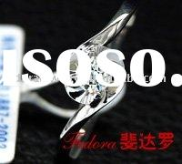 2011 new type 0.18 Carat Diamond 18 K Bridal White Gold Ring