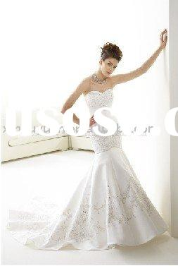 2011 summer couture mermaid embroidery wedding dresses JAW-053