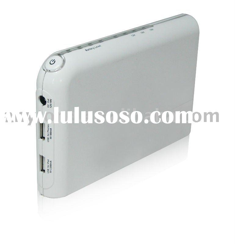 2012 Hot Item 13200mah External Rechargeable Portable Battery Pack for iPad2, Samsung Galaxy Tab, la